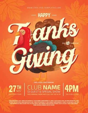 Thanksgiving Event Free Flyer Template