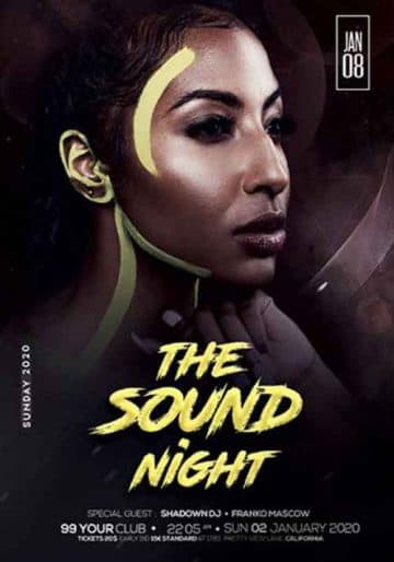 The Sound Night Free Flyer Template