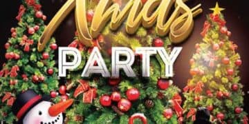 X-Mas Party Night Free Flyer Template