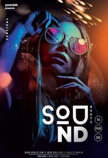 Electro Sound Club Free Flyer Template