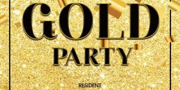 Exclusive Gold Party Free Flyer Template