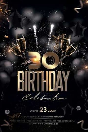 Free 30th Birthday Party Flyer Template