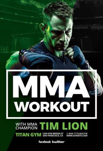 MMA Sports Free Flyer Template