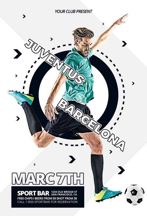 Free Euro Soccer Flyer PSD Template