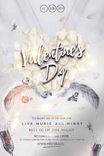 Happy Valentines Party Free PSD Flyer Template
