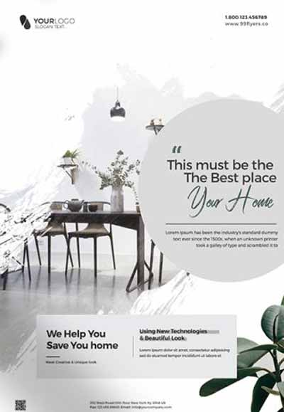Interior Design Promotion Free Flyer Template