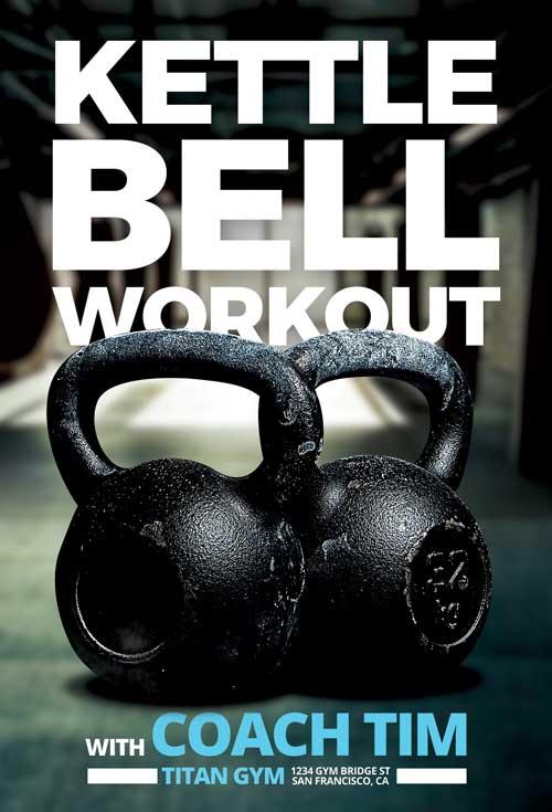 Kettlebell Workout Free Fitness Flyer Template