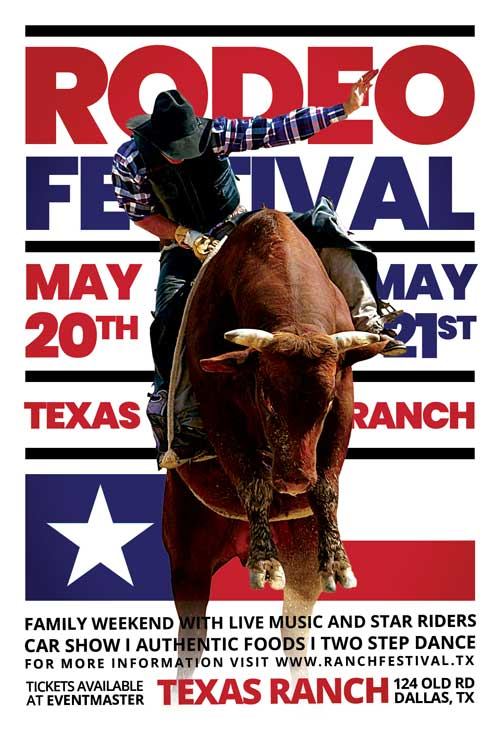 Western Rodeo Event Free Flyer Template