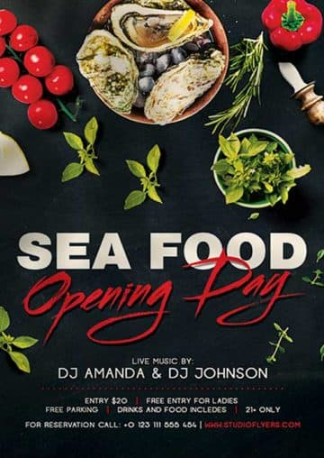 Sea Food Restaurant Free Flyer Template