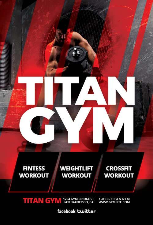 Titan Workout Free Gym Flyer Template
