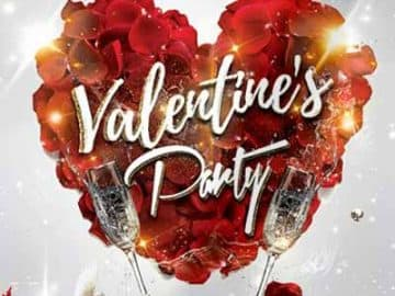 V-Day Love Affair Free Flyer Template