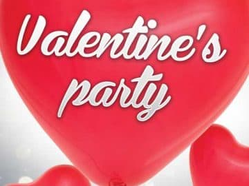 Valentine's Day Party Free Flyer Template