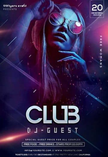 Club DJ Night Party Free Flyer Template