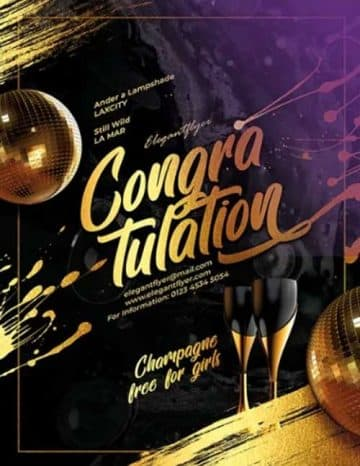 Congratulation Party Free Flyer Template