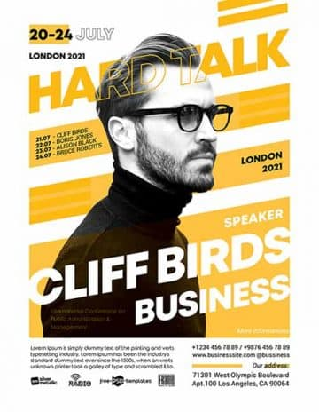 Free Business Talk Event Flyer Template