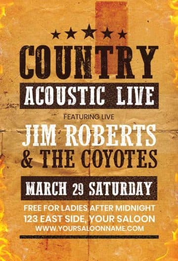Free Country Music Flyer Template
