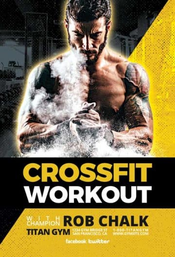 Crossfit Workout Free Gym Flyer Template