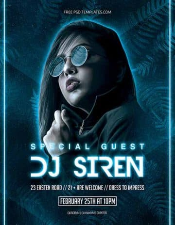 Free Special Guest Flyer Template