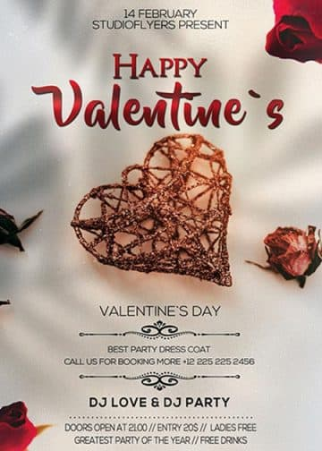 Happy Valentines Day Free PSD Flyer Template