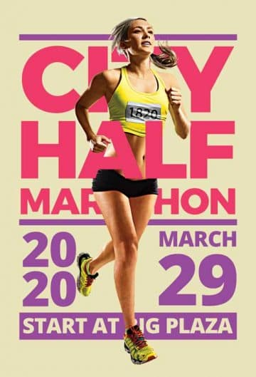Marathon Event Free Sport Flyer Template