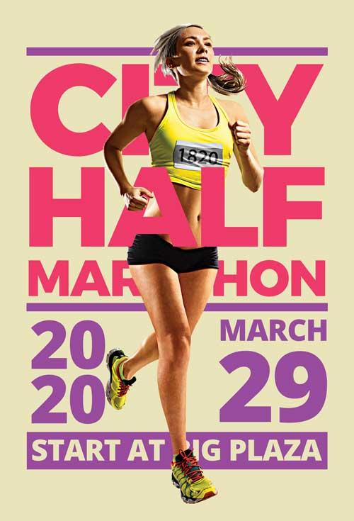 Marathon Event Free Sport Flyer Template
