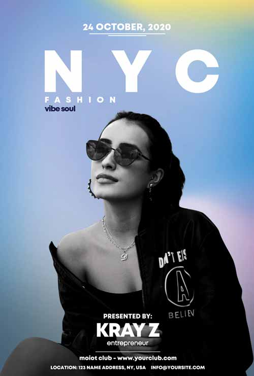 NYC Fashion Party Free Flyer Template