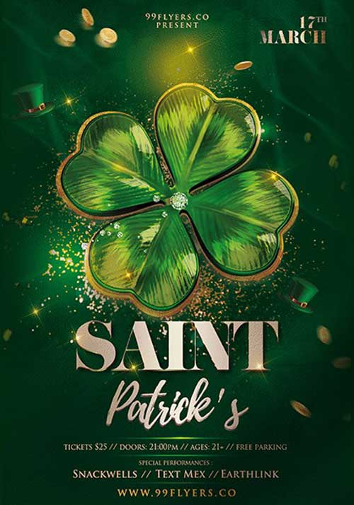 Saint Patrick's Day Event Free PSD Flyer Template