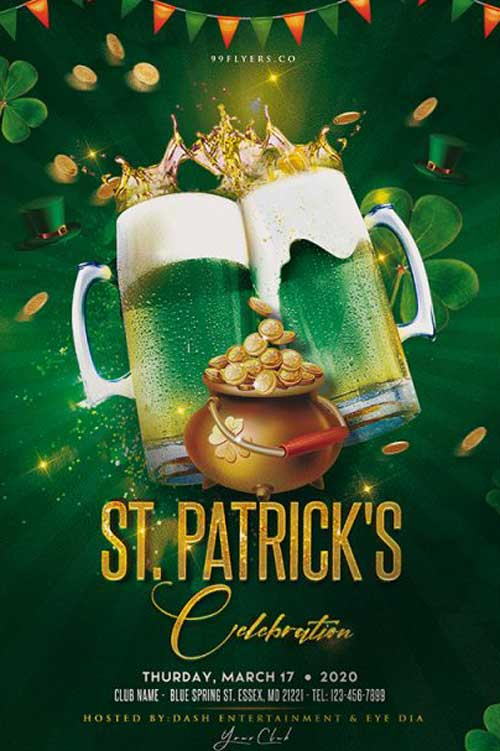 Saint Patrick's Day Party Free Flyer Template