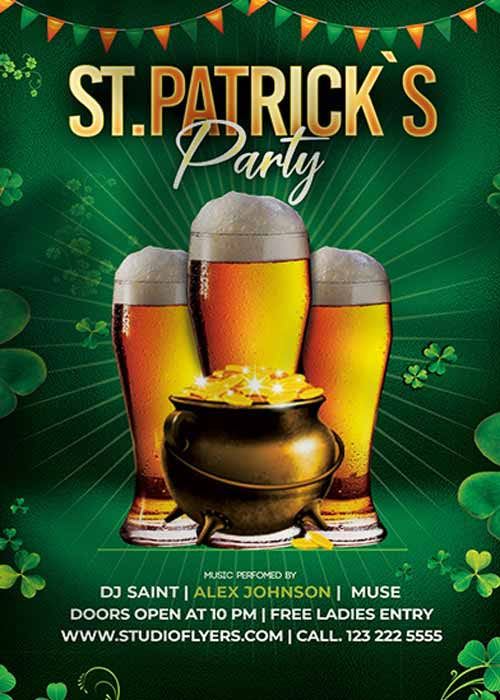 Saint Patrick's Party Free Flyer Template