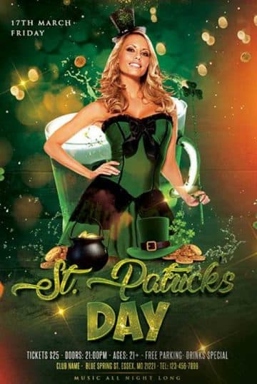 St Patricks Celebration Free PSD Flyer Template