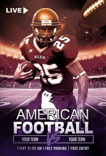 American Football Match Free Flyer Template
