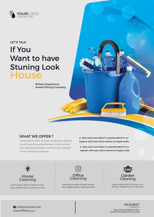 Cleaning Service Free Flyer Template