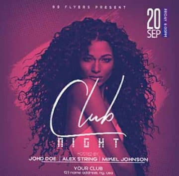 Club Night Free Flyer Template