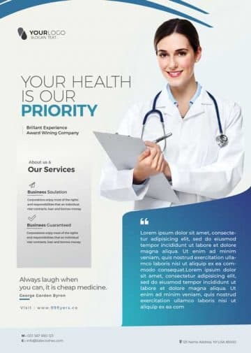 Doctor Health Check Free Flyer Template