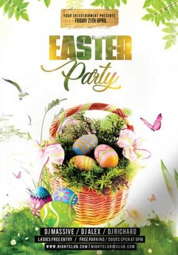 Easter Party Event Free PSD Flyer Template