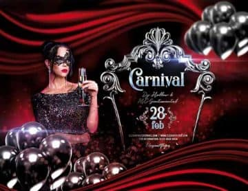 Elegant Carnival Party Free Flyer Template