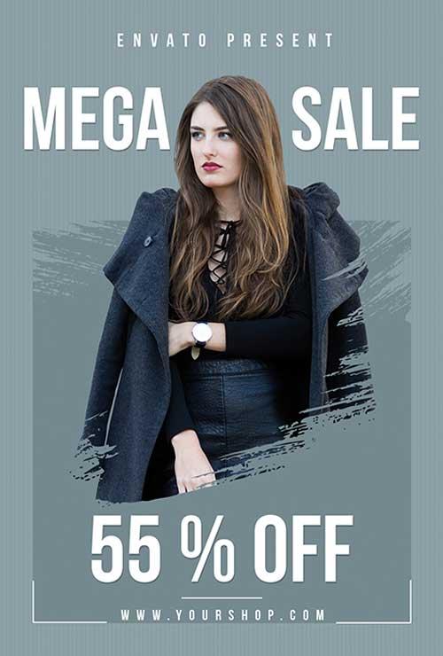 Fashion Mega Sale Free PSD Flyer Template