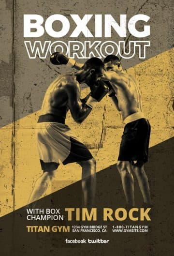 Free Boxing Sport Flyer Template