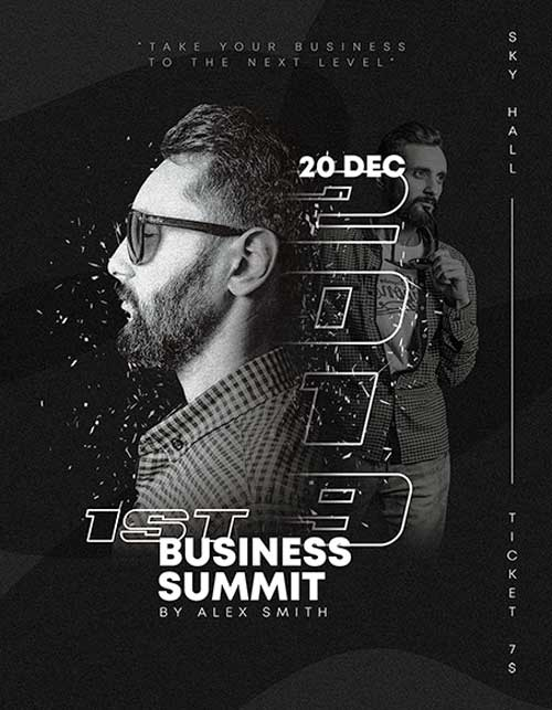 Free Business Summit Flyer Template