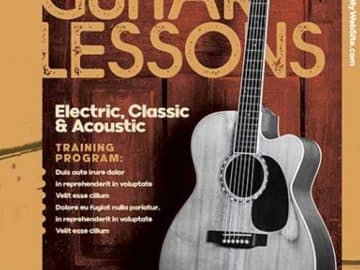 Free Guitar Lessons Flyer Template