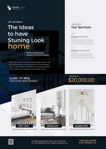 Free Interior Furniture Design Flyer Template