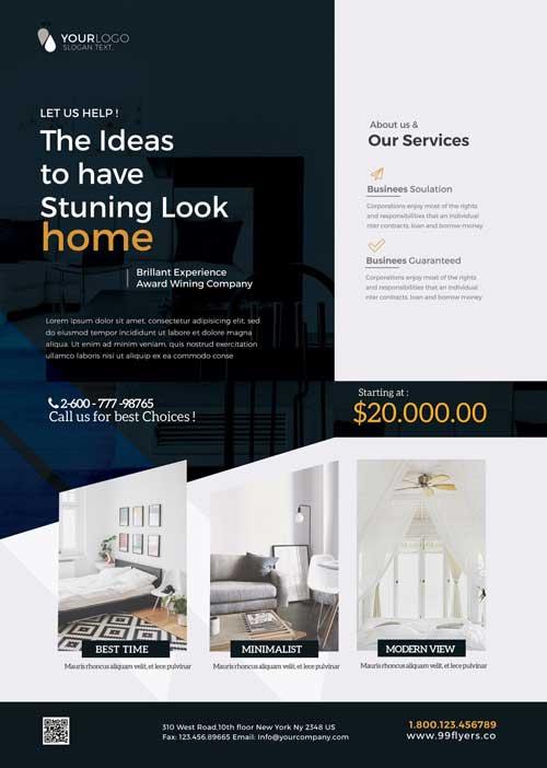 Free Interior Furniture Design Flyer Template