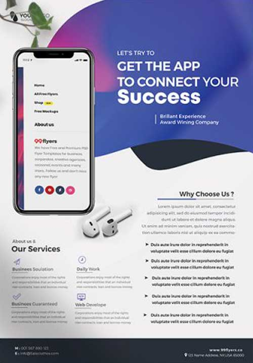 Free Mobile App Promotion Flyer Template