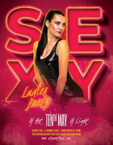 Free Sexy Ladies Flyer PSD Template