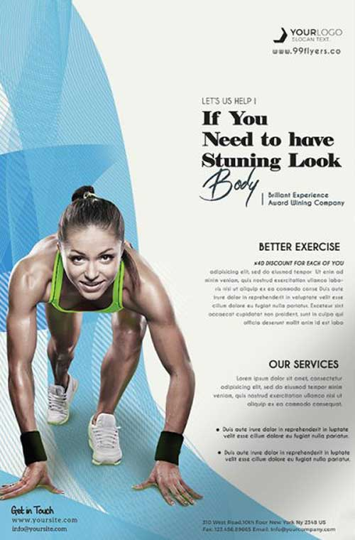 Free Sport Fitness Flyer PSD Template