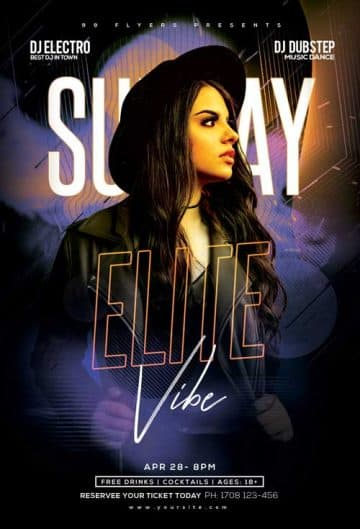 Free Sunday Vibe Party Flyer Template