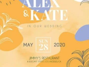 Free Wedding Invitation Flyer PSD Template