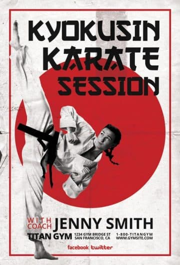 Karate Sessions Free PSD Flyer Template