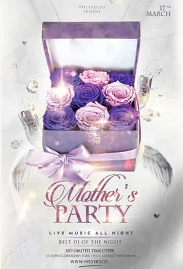 Mother's Day Party Free Flyer Template