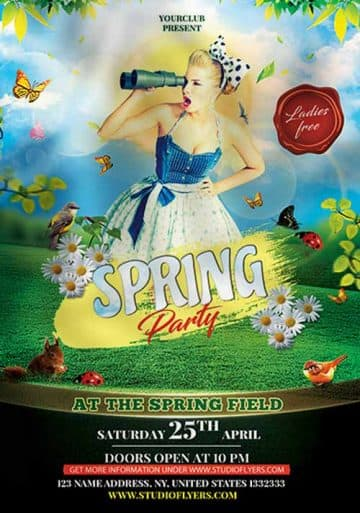Spring Event Free Party Flyer Template